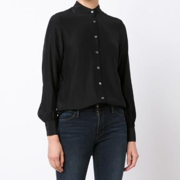aa58551f13c717 Frame Denim Tops - FRAME black button up silk blouse